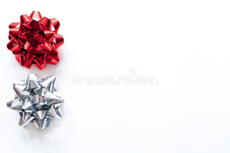 Modell för vit jul med juldekoren royaltyfri fotografi