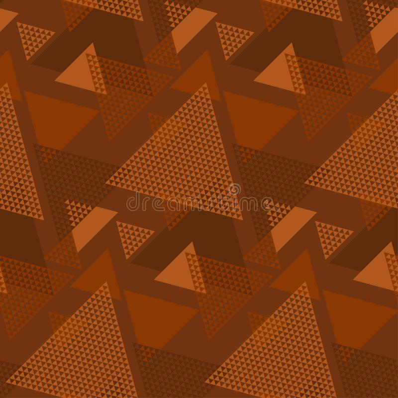 Modell f?r naturlig f?rg f?r terrakotta geometrisk s?ml?s vektor illustrationer