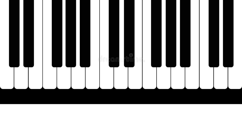 Modell från svartvita pianotangenter också vektor för coreldrawillustration royaltyfri illustrationer