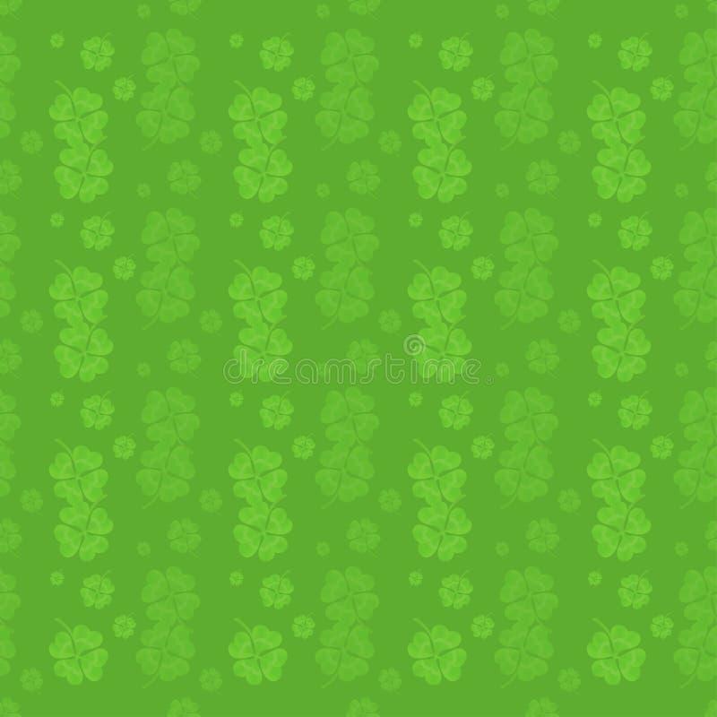 Modell från växt av släktet Trifolium för fyra blad - symbol för dag för St Patrick ` s vektor illustrationer