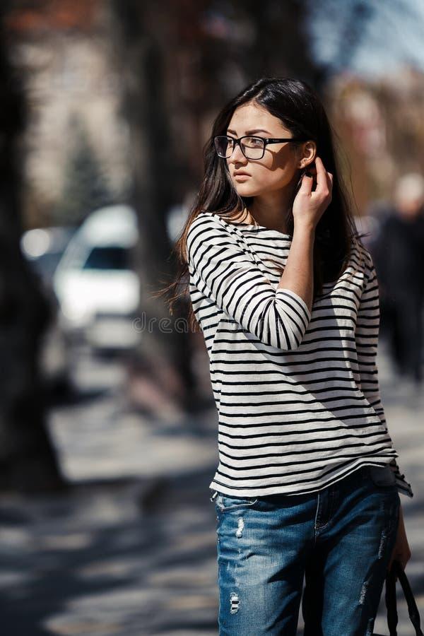 Modell i mitt av staden arkivfoto