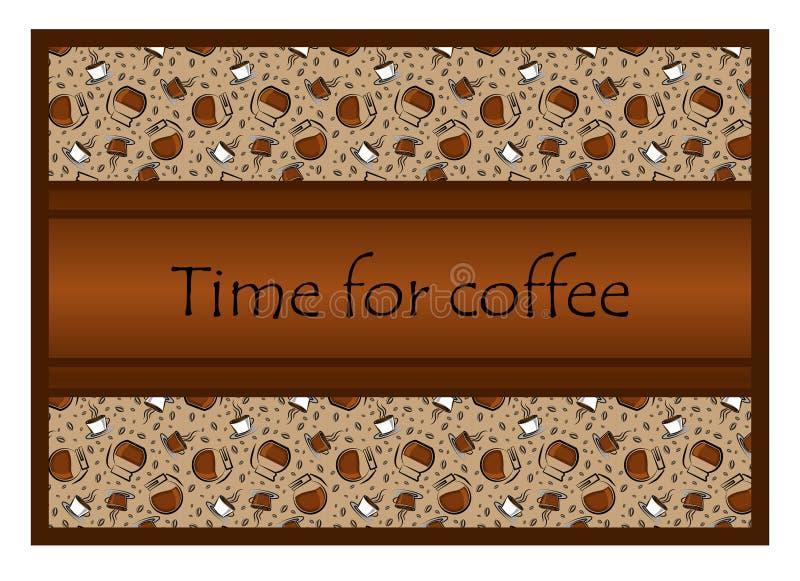 Modell: koppar kaffe och kaffetillbehör, kaffebönor Th royaltyfri illustrationer