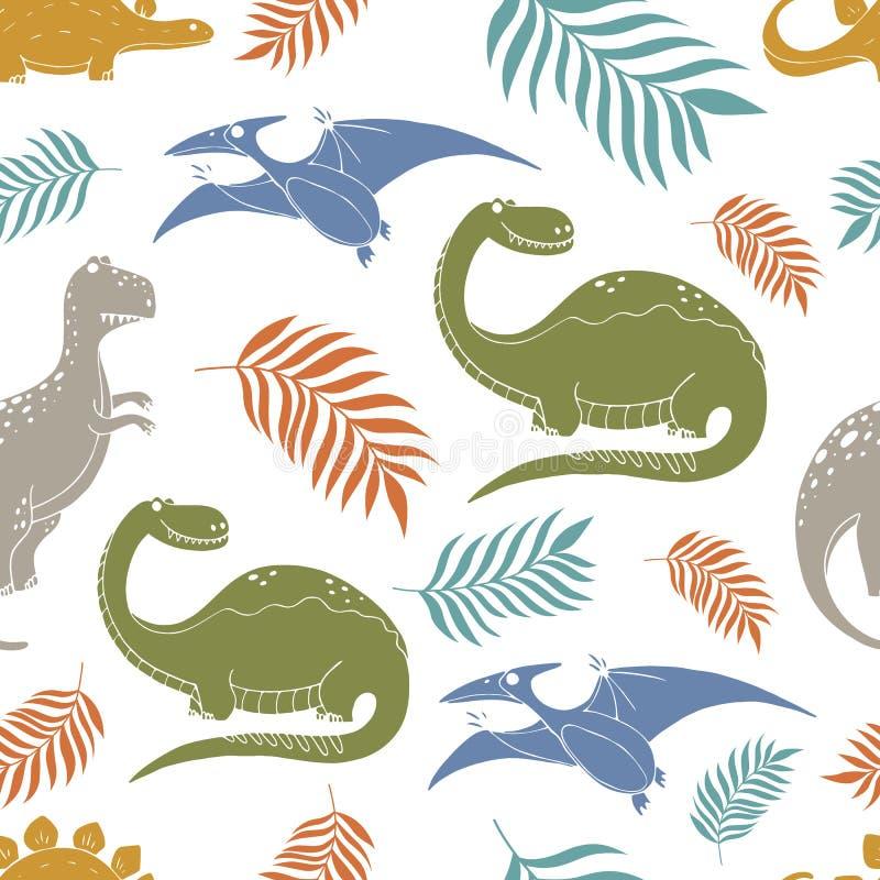 Modell med dinosaurier royaltyfri illustrationer