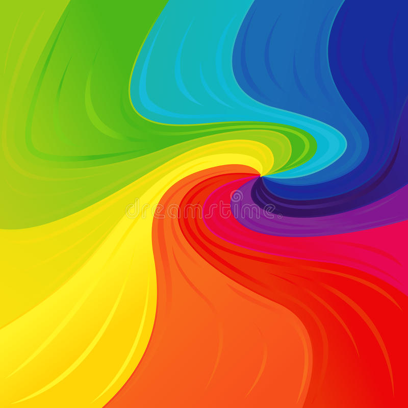 Modell med färgglade spektrumfärger stock illustrationer