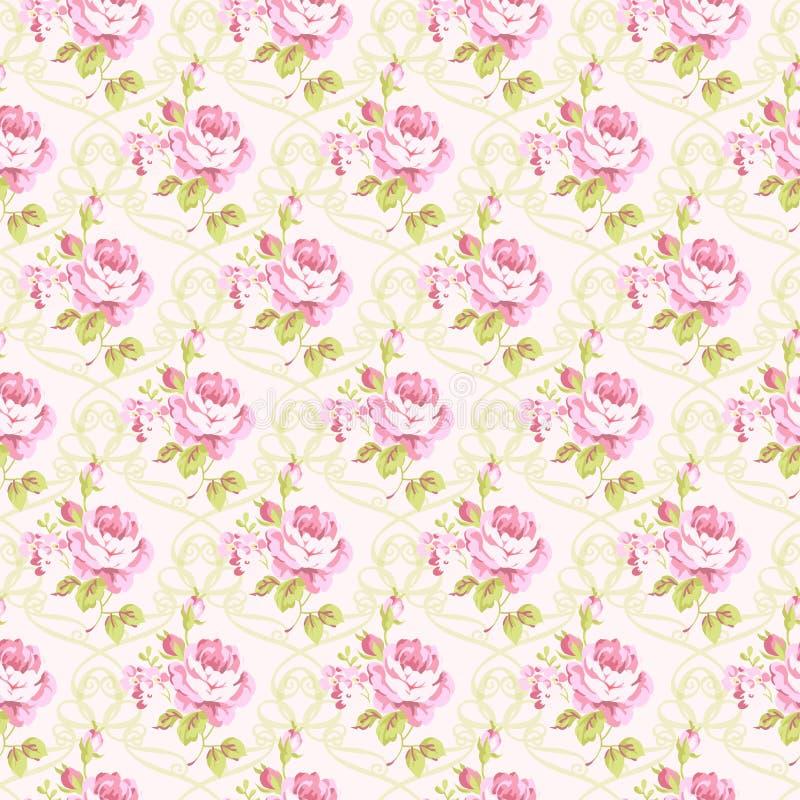 Modell med gula och rosa rosor stock illustrationer