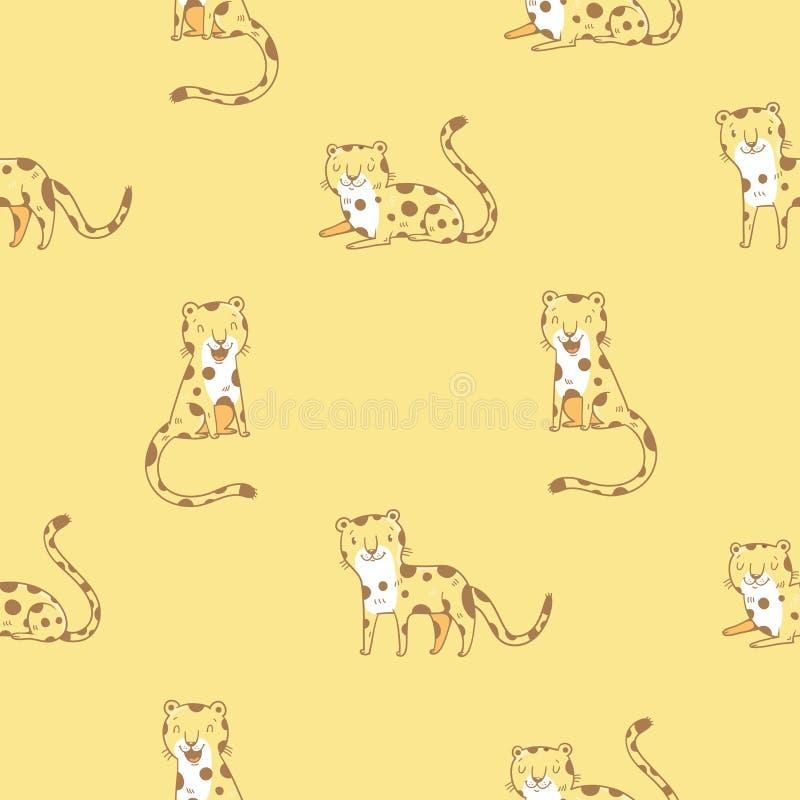 Modell med leoparder royaltyfri illustrationer