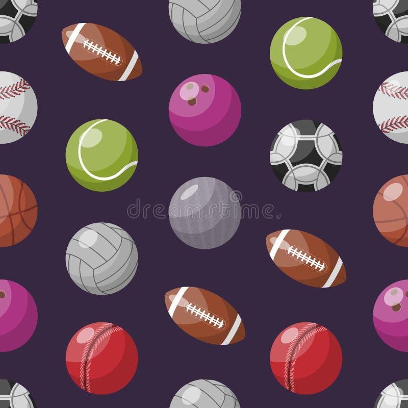 Modell med olika sportive bollar royaltyfri illustrationer