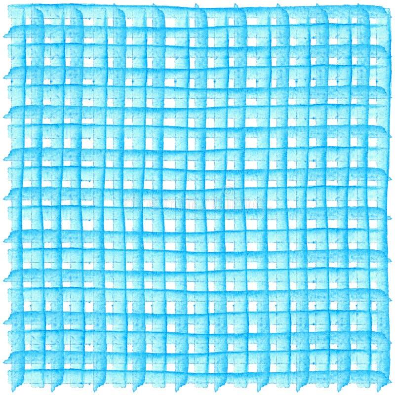 Modell med rutig geometrisk textur Design för vattenfärgillustrationbeståndsdel för affischer, klistermärkear, baner, inbjudninga stock illustrationer