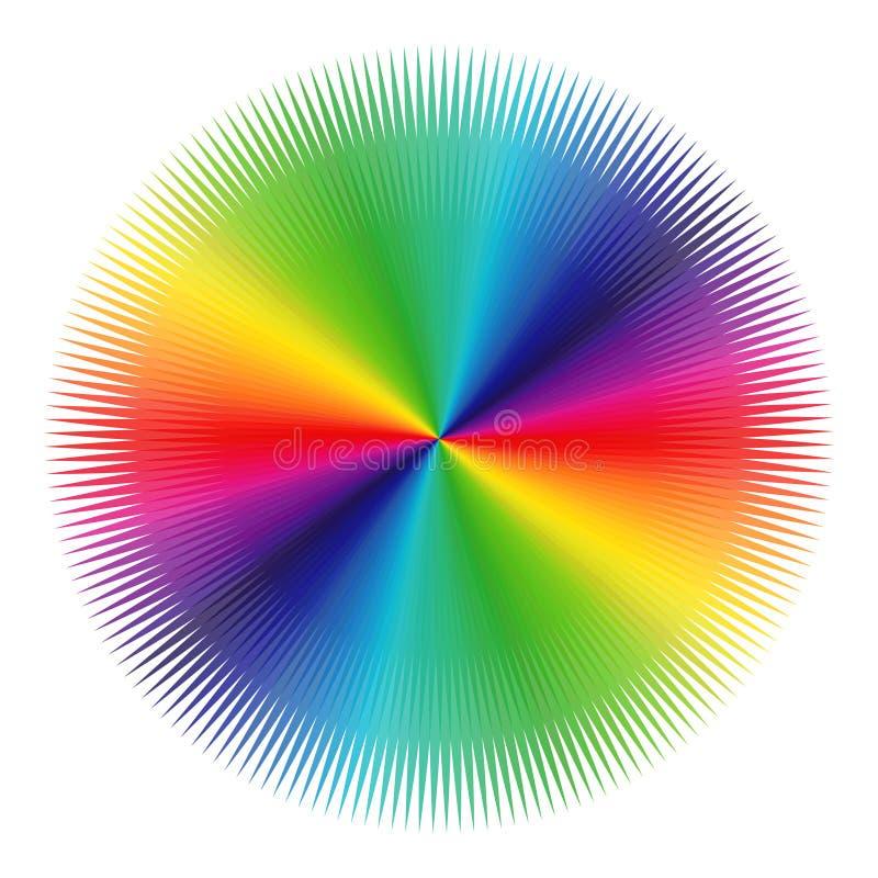 Modell med spektrumfärger över vit royaltyfri illustrationer