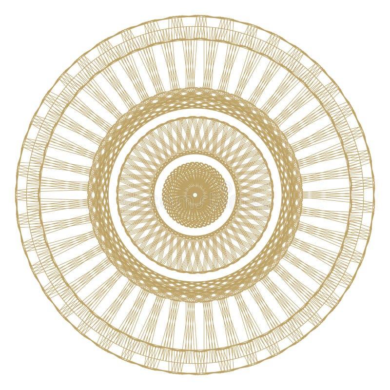 Modell med spirala beståndsdelar för designarbete! stock illustrationer