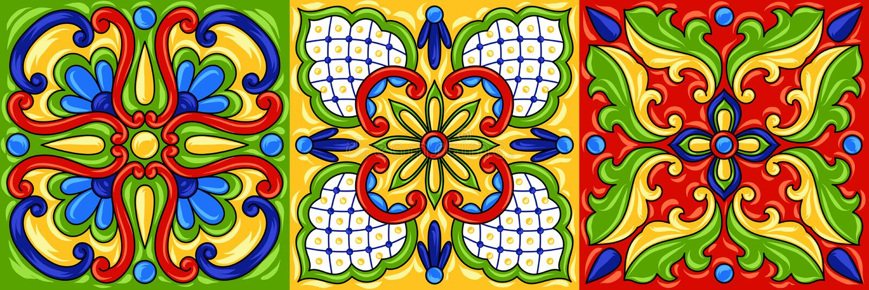 Modell mexikantalavera för keramisk tegelplatta stock illustrationer