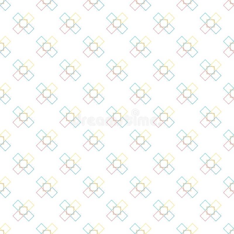 Modell och sömlös bakgrund av vektorn och färgrikt av abstrakt bakgrundstextur stock illustrationer