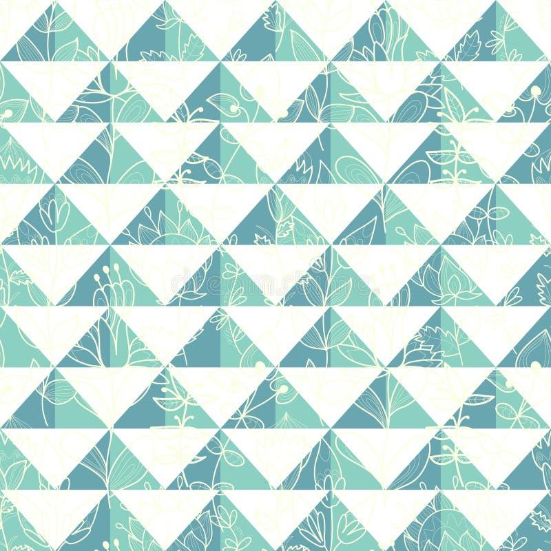 Modell som är geometrisk med triangeln royaltyfri illustrationer