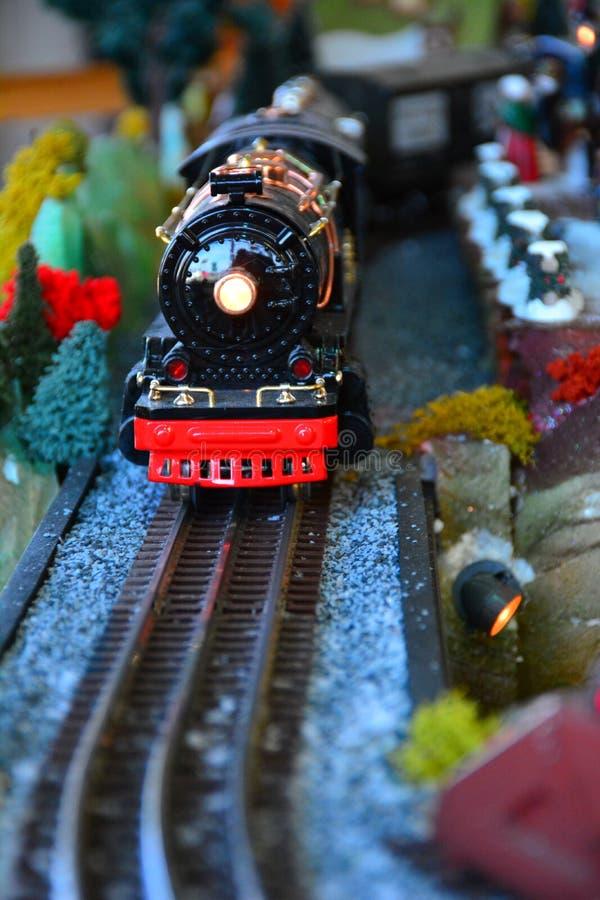 Modell Steam Train fotografering för bildbyråer
