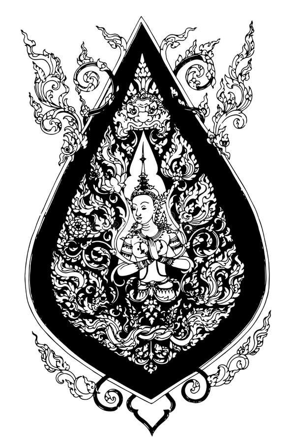 Modell Thailand stock illustrationer