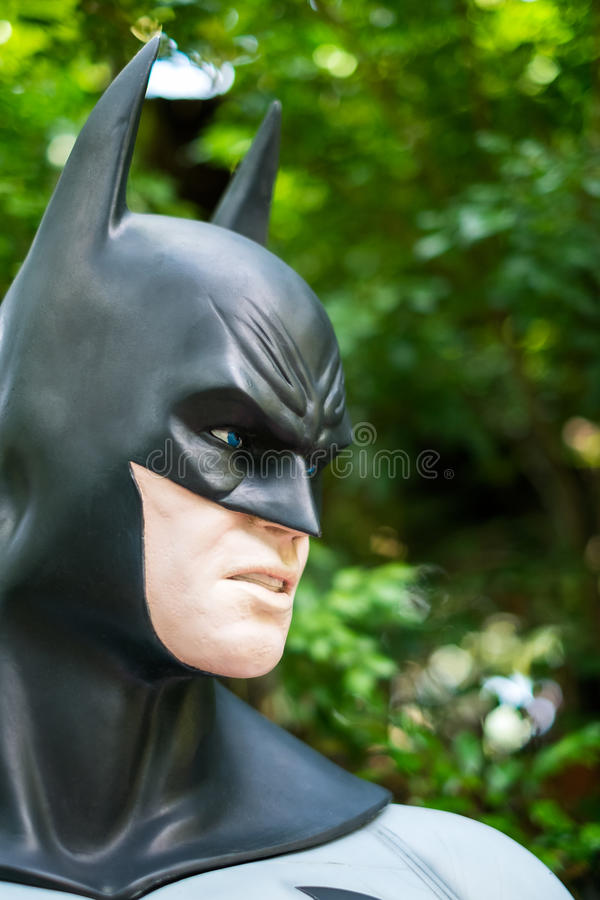 Modell von Batman im Graden am 13. Oktober 2016 in Chiang Ma stockfotos