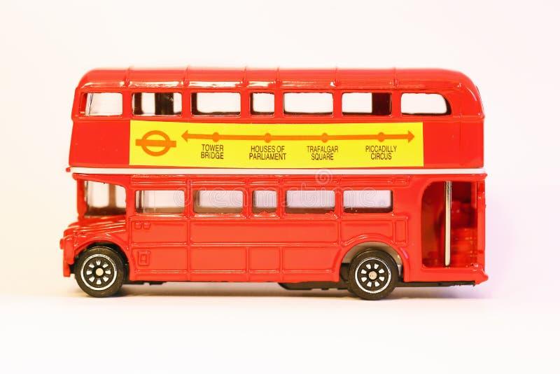 Modell von Doppeldecker London-Bus lizenzfreies stockbild