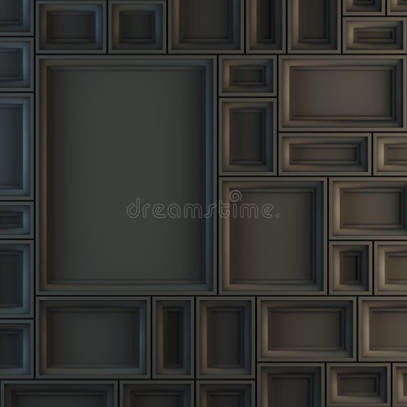 Modell von leeren schwarzen Rahmen lizenzfreie stockbilder