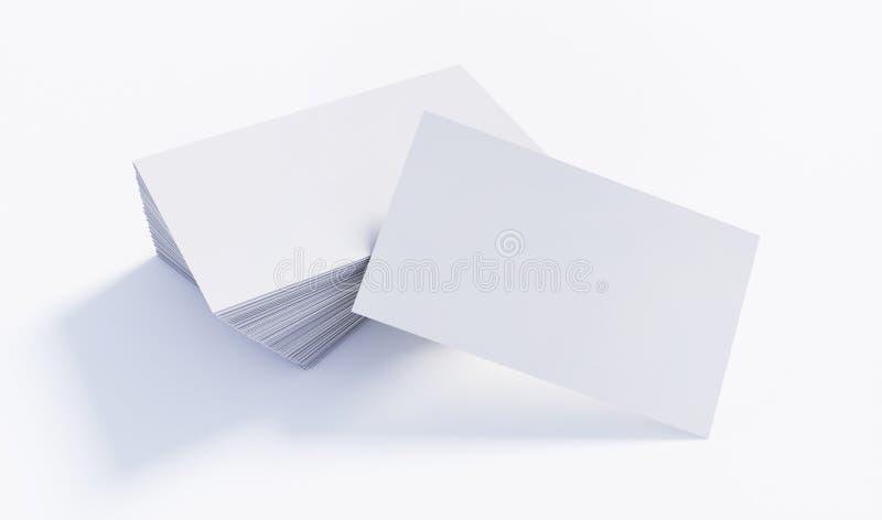 Modell von wei?en Visitenkarten lizenzfreie abbildung