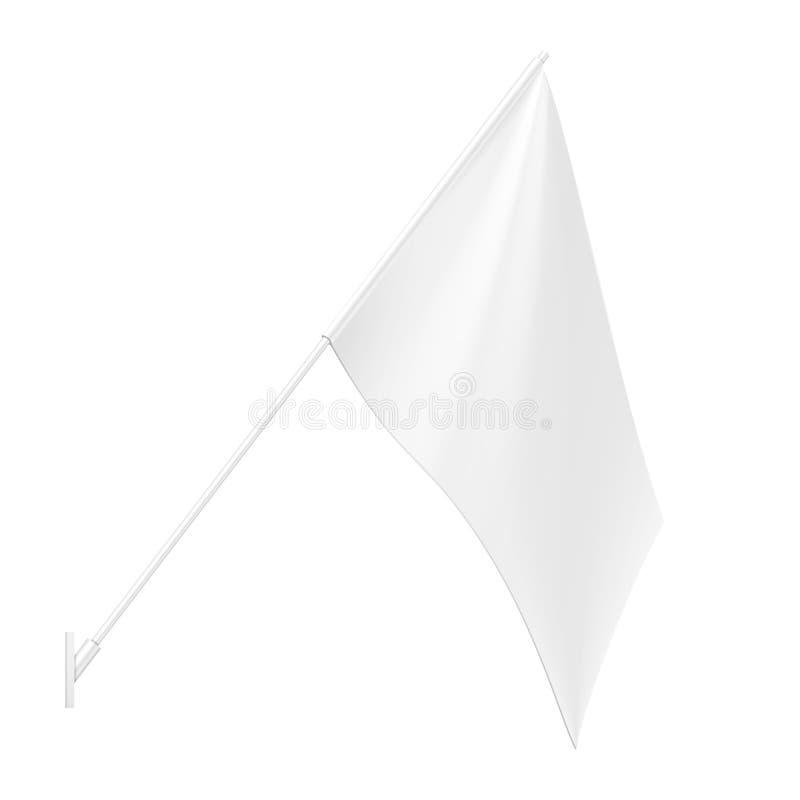 Modell-Wand-Berg-Flagge Stander-Werbungs-Fahnen-Schild im Freien Spott herauf Produkte auf dem wei?en Hintergrund lokalisiert lizenzfreie abbildung