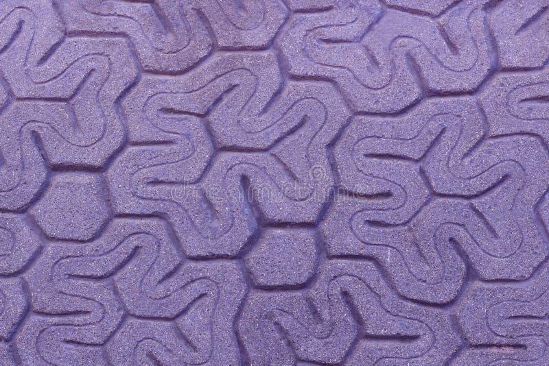Modellato pavimentando le mattonelle, fondo del pavimento del mattone del cemento fotografie stock
