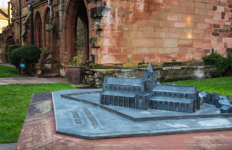 Modellbau von Carlisle Cathedral lizenzfreies stockfoto