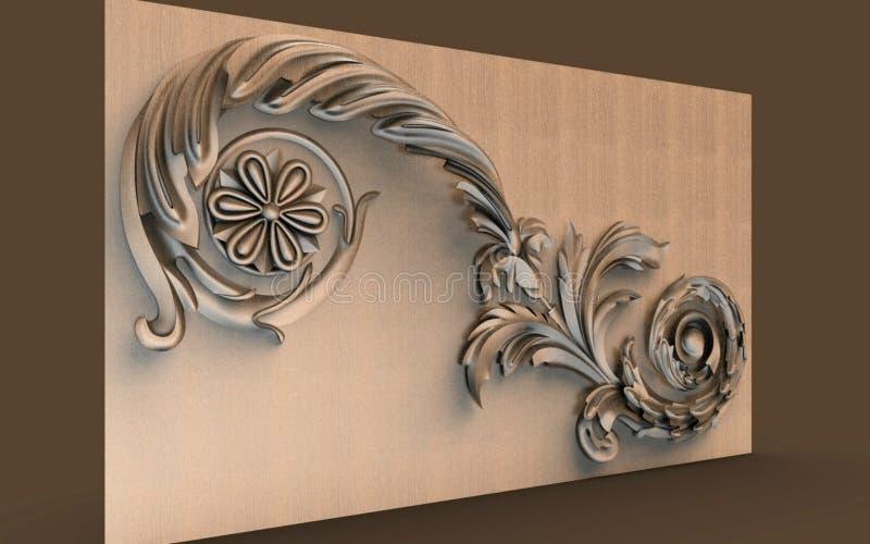 Modelle für architektonische Innenarchitektur, 3D Illustration, Künstler, Beschaffenheit, Grafikdesign, Architektur, Illustration stock abbildung