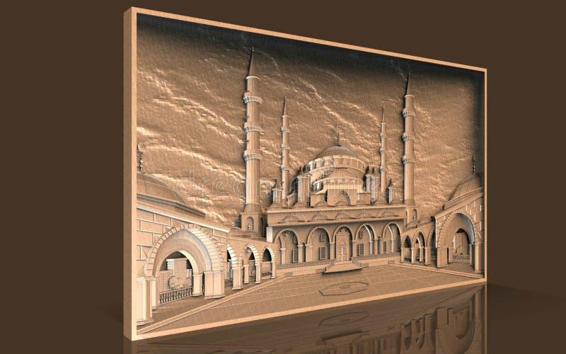 Modelle für architektonische Innenarchitektur, 3D Illustration, Künstler, Beschaffenheit, Grafikdesign, Architektur, Illustration vektor abbildung
