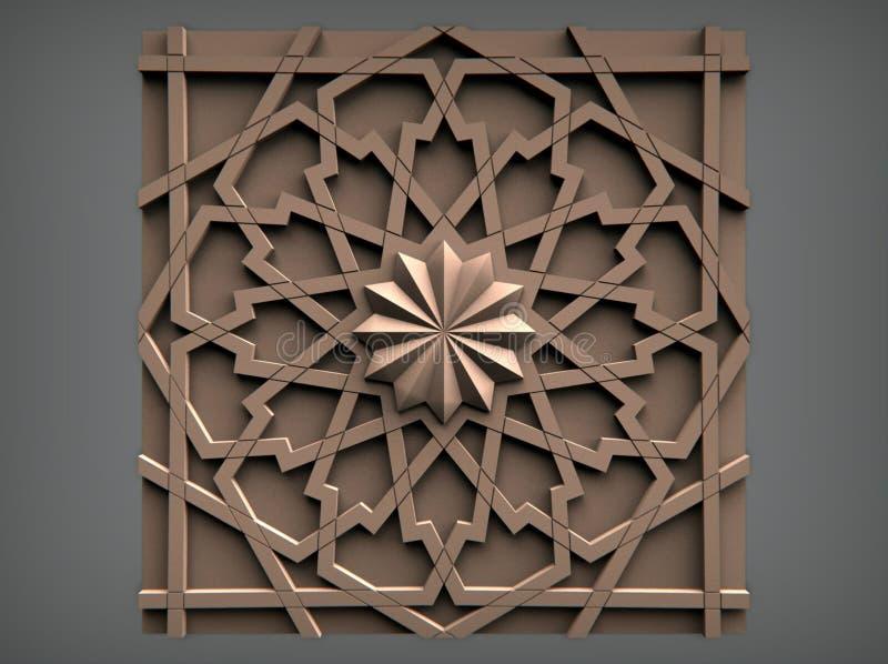 Modelle für architektonische Innenarchitektur, 3D Illustration, Künstler, Beschaffenheit, Grafikdesign, Architektur, Illustration lizenzfreie abbildung