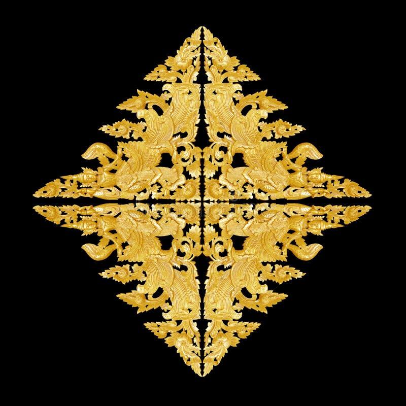 Modellen av blomman sned ramen p? svart bakgrund royaltyfria bilder