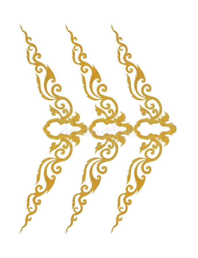 Modellen av den guld- metallramen snider blomman på vit royaltyfri foto