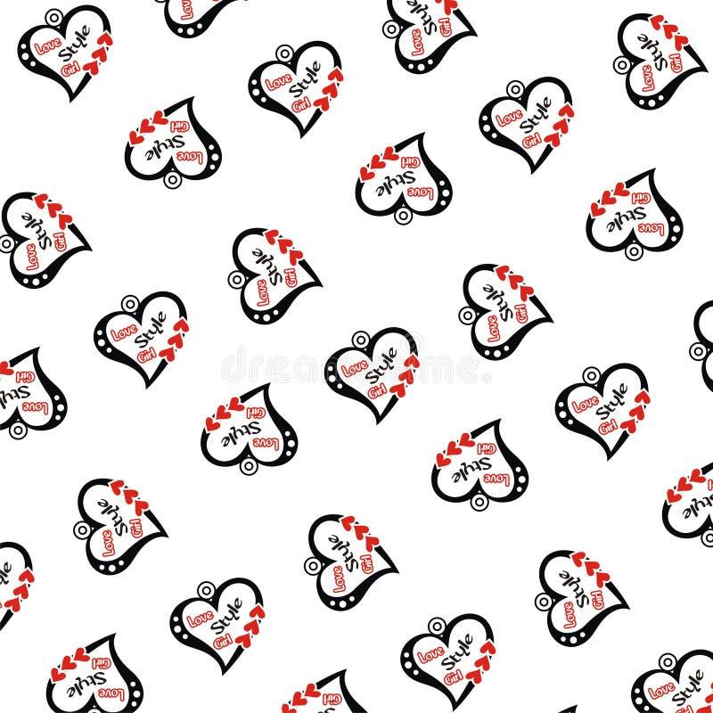 Modellen av slumpmässiga förälskelse och söt text vektor illustrationer