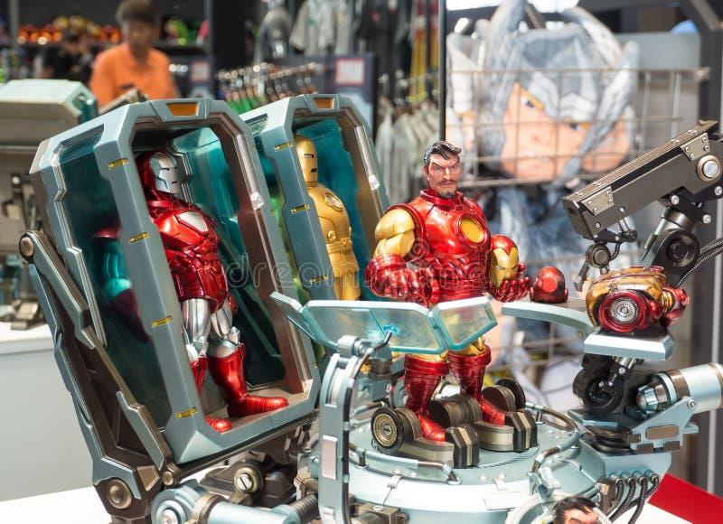 Modellen för järnmanleksaken i komisk version är det sällsynta samlingsobjektet för Marvel arkivfoto