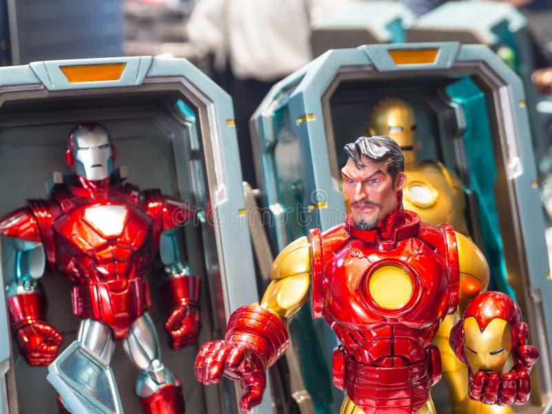 Modellen för järnmanleksaken i komisk version är det sällsynta samlingsobjektet för Marvel arkivfoton