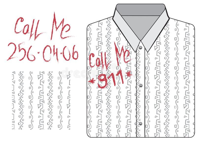 Modellen och beståndsdeldesignen av skjortan vektor illustrationer