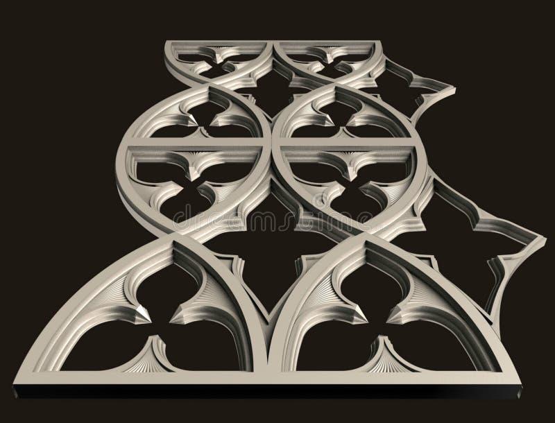 Modellen voor architecturaal binnenlands ontwerp, 3D illustratie, kunstenaar, textuur, grafisch ontwerp, architectuur, illustrati stock illustratie