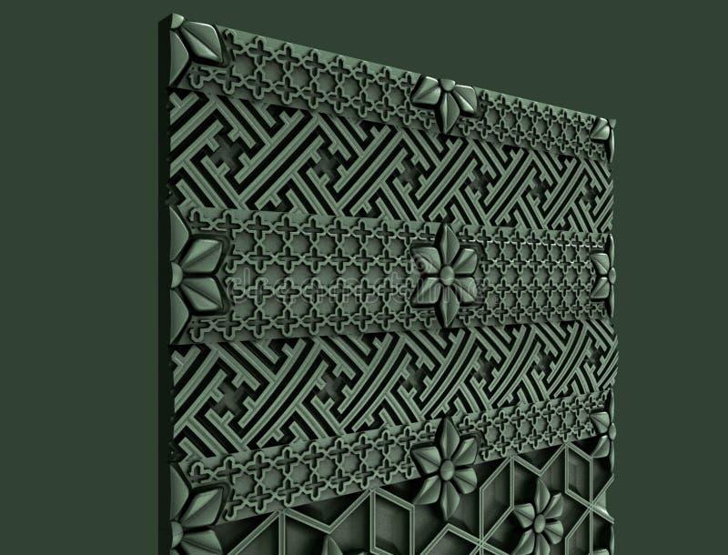 Modellen voor architecturaal binnenlands ontwerp, 3D illustratie, kunstenaar, textuur, grafisch ontwerp, architectuur, illustrati royalty-vrije illustratie