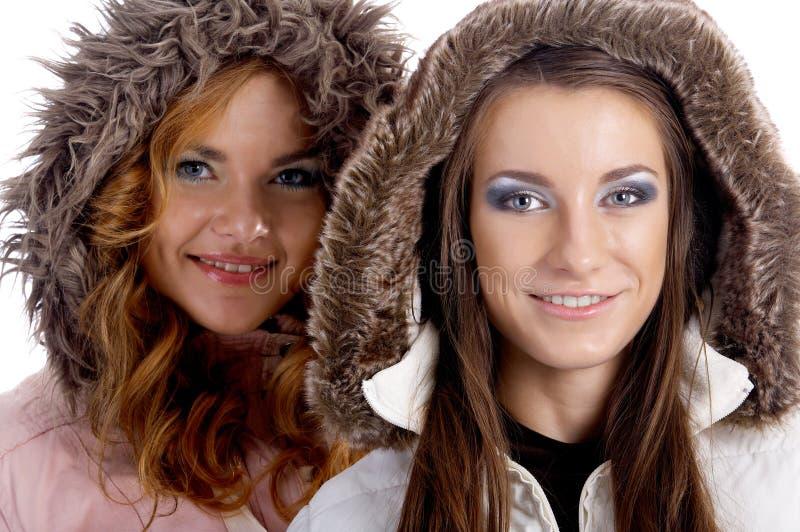 Modellen in warme kleren royalty-vrije stock foto