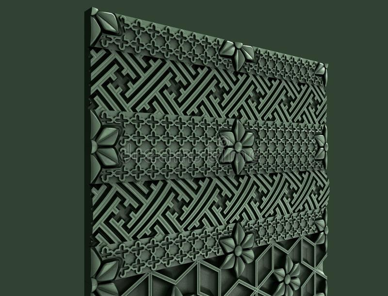 Modeller för den arkitektoniska inredesignen, 3D illustration, konstnär, textur, grafisk design, arkitektur, illustration, symbol royaltyfri illustrationer