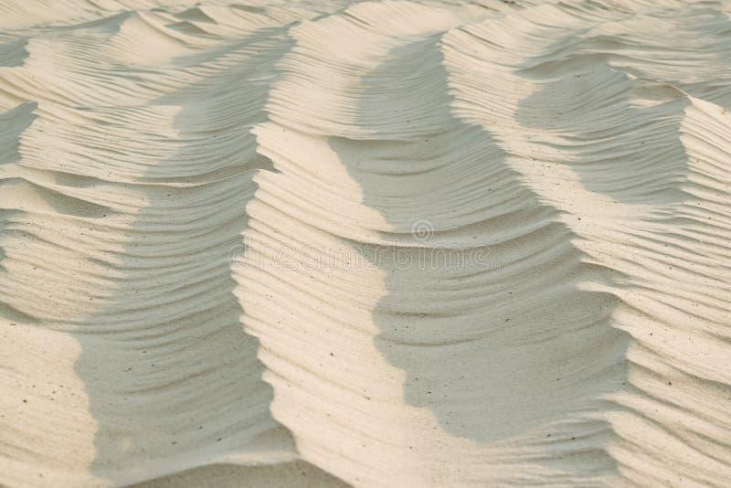 Modeller för flodbyggnadssand från vinden, naturlig bakgrund royaltyfri fotografi
