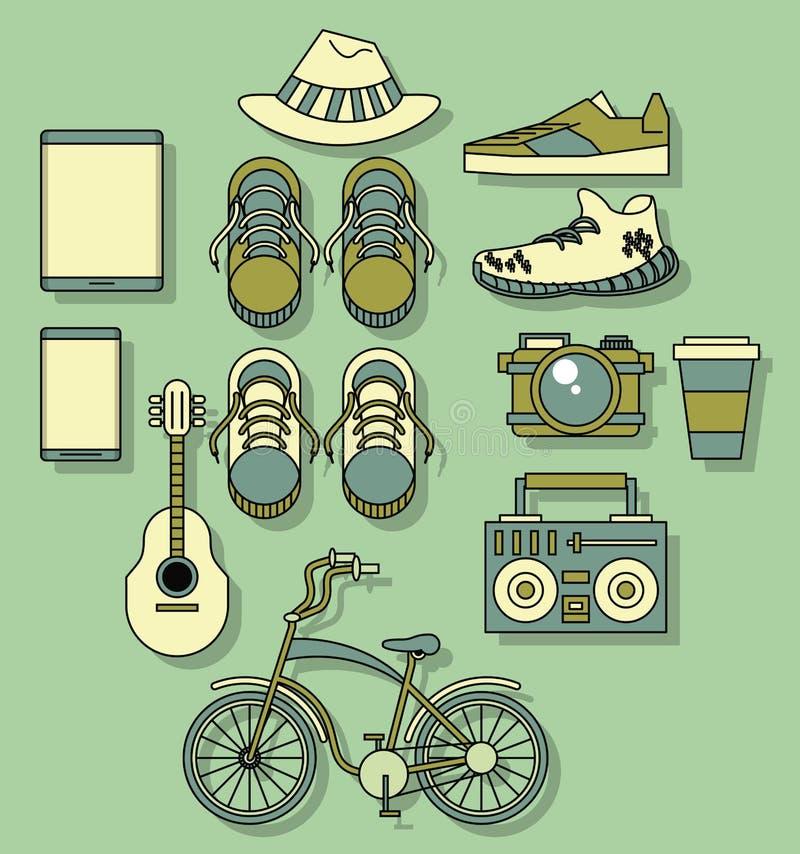Modeller för Hipstermodebakgrund royaltyfri illustrationer