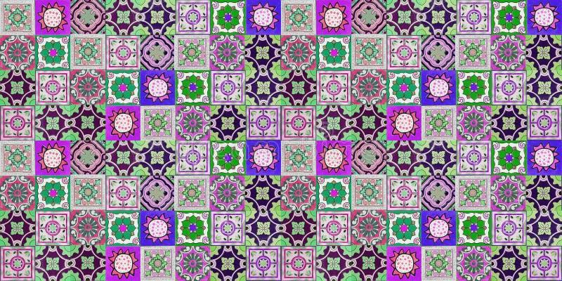 Modeller för keramiska tegelplattor vektor illustrationer