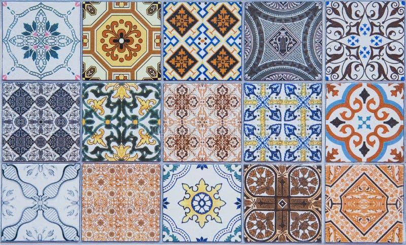 Modeller för keramiska tegelplattor royaltyfri illustrationer