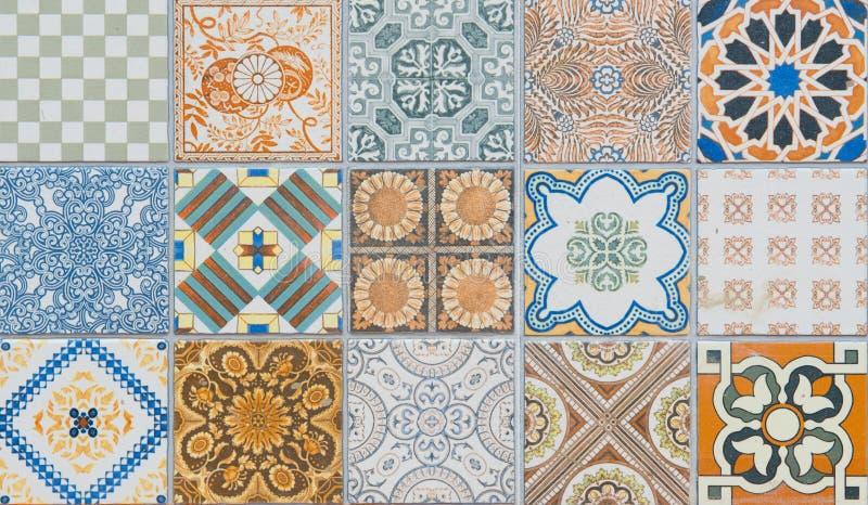 Modeller för keramiska tegelplattor stock illustrationer