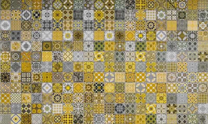 Modeller för keramiska tegelplattor från Portugal royaltyfria foton