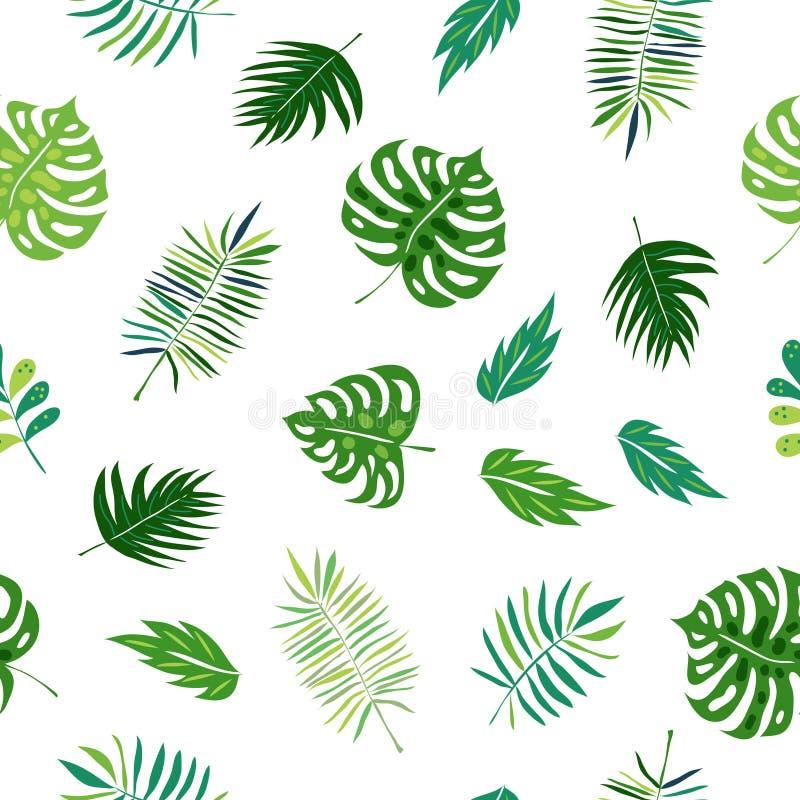Modeller för tropisk djungel för vektor sömlösa stock illustrationer