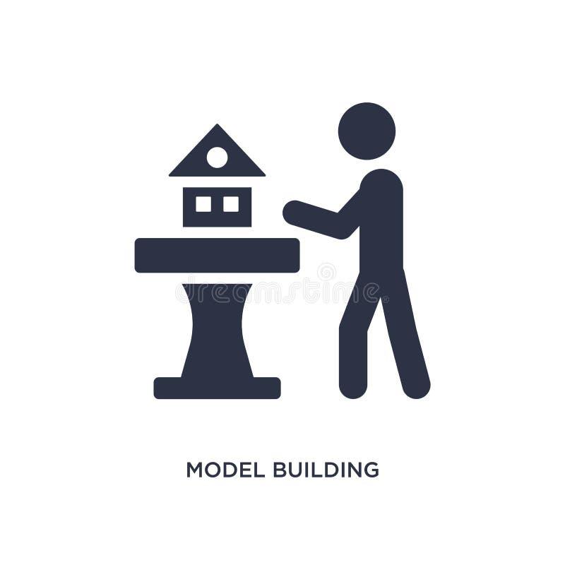 modellera byggnadssymbolen på vit bakgrund Enkel beståndsdelillustration från aktivitet och hobbybegrepp royaltyfri illustrationer