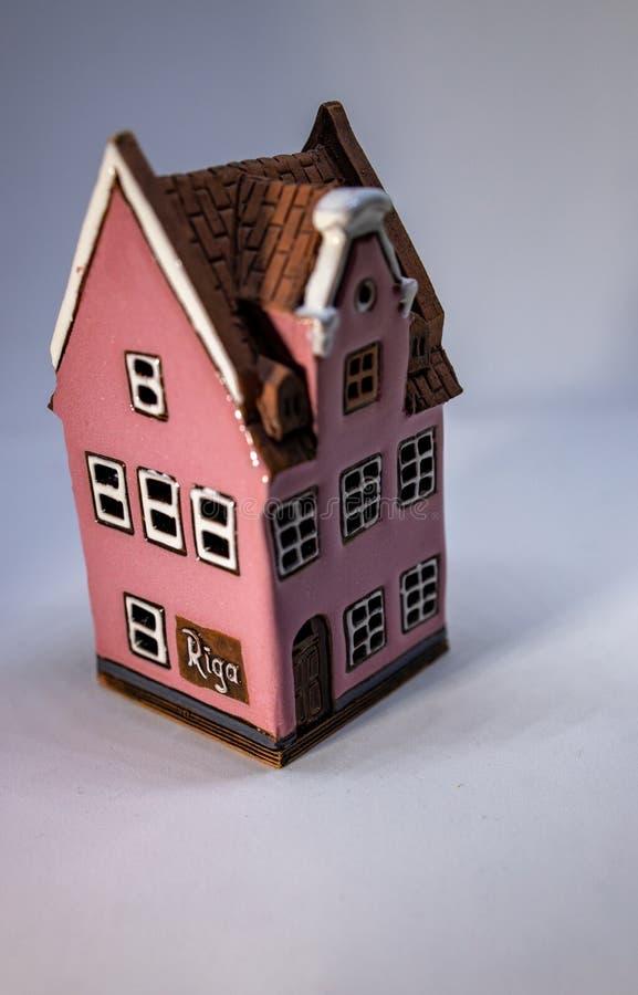 Modellera huset eller miniatyrhuset fotografering för bildbyråer