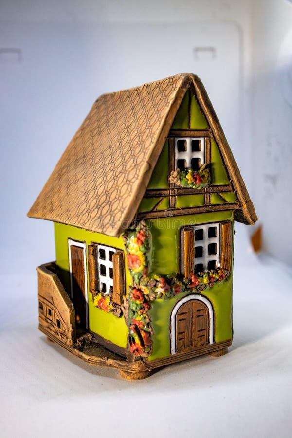 Modellera huset eller miniatyrhuset arkivfoton
