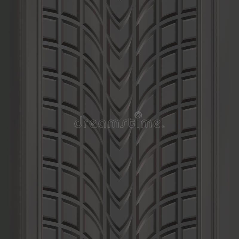 modellgummihjuldäckmönster royaltyfri illustrationer